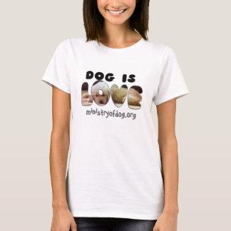 Camiseta O cão é amor