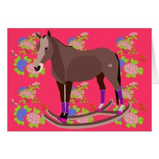 Camiseta o cavalo de madeira cartão