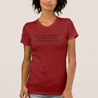 Camiseta o coolness perpétuo é a praga do vampiro
