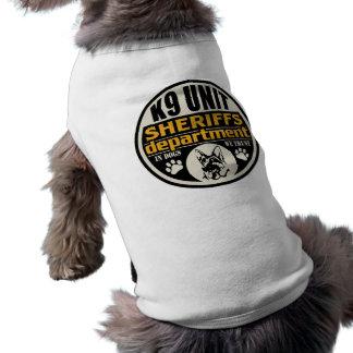 Camiseta O departamento de xerife da unidade K9