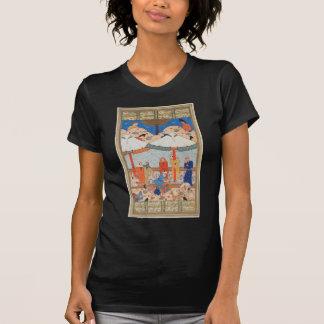 Camiseta O desmaio de Khamsah de Laylah e de Majnun Nizami