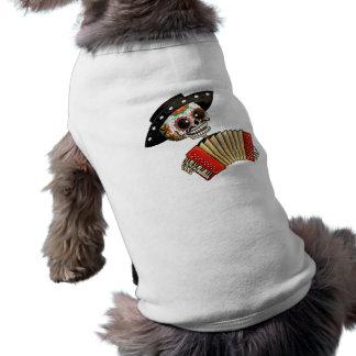 Camiseta O dia do Mariachi inoperante do EL do esqueleto