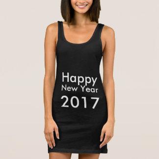 Camiseta O feliz ano novo editável 2017 do texto do modelo