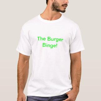 Camiseta O frenesi do hamburguer