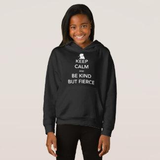 Camiseta O Hoodie escuro da menina feroz