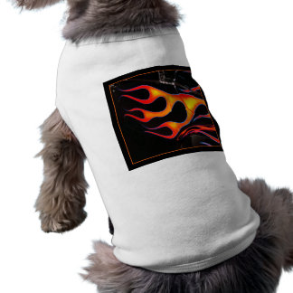 Camiseta O hot rod arde a camisa do cachorrinho