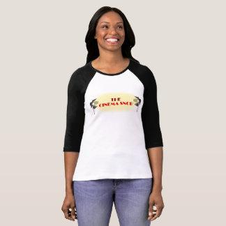 Camiseta O logotipo do snobe do cinema - a 3/4 de luva das