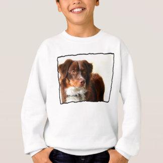 Camiseta O pastor australiano caçoa a camisola