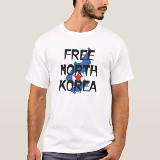 Camiseta O T livra a Coreia do Norte