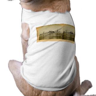 Camiseta O vintage Stereoview de Maine da navio de guerra
