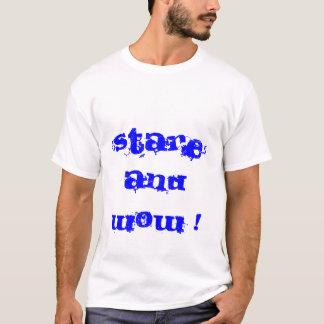 Camiseta Olhar fixo e uau! e verifique-me OWT!!!