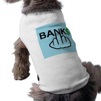 Camiseta Os bancos da roupa do cão corrompem