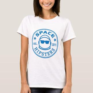 Camiseta Os hipsteres do espaço das mulheres inverteram o T