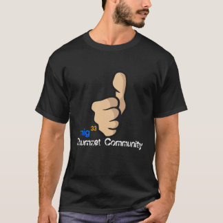 Camiseta os polegares copiam, a comunidade de Thumzet, mig,