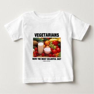 Camiseta Os vegetarianos têm a dieta a mais colorida