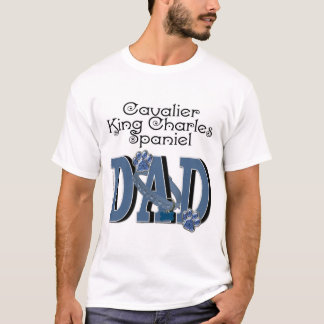 Camiseta PAI descuidado do Spaniel de rei Charles