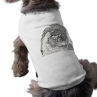 Camiseta papagaio gráfico do esboço da opinião principal do