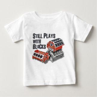Camiseta Para Bebê Ainda jogos com blocos