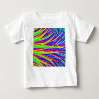 Camiseta Para Bebê Arte abstracta do arco-íris 3D