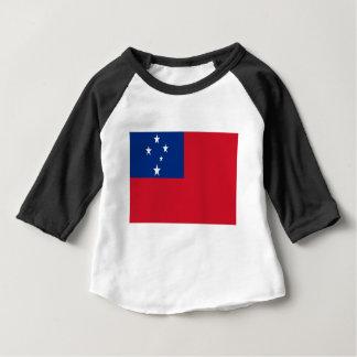 Camiseta Para Bebê Baixo custo! Bandeira de Samoa
