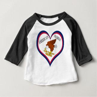 Camiseta Para Bebê Bandeira de Samoa Americanas