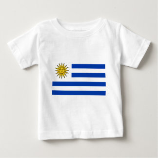 Camiseta Para Bebê Bandeira de Uruguai