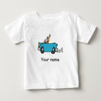 """Camiseta Para Bebê Bebé Shirt com automóvel sabe """"Your name"""""""