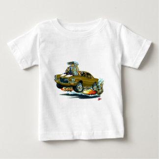Camiseta Para Bebê Carro 1970-72 Brown-Branco de Camaro