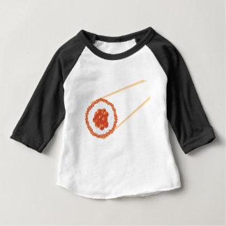 Camiseta Para Bebê Chopsticks que guardaram Sushi3
