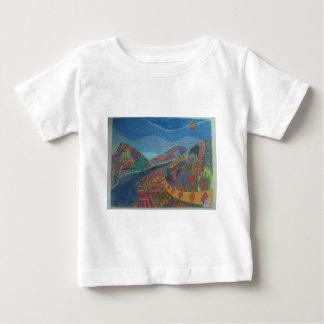 Camiseta Para Bebê Colinas e felicidade