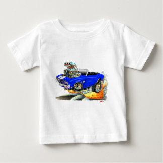 Camiseta Para Bebê Convertible 1970 Azul-Branco de Chevelle