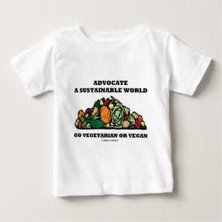 Camiseta Para Bebê Defenda um mundo sustentável vão Vegan do