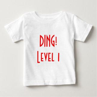 Camiseta Para Bebê DING! Nível 1