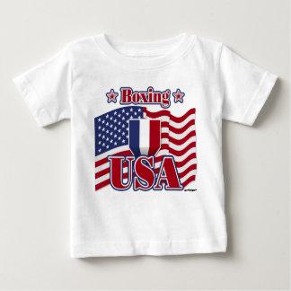 Camiseta Para Bebê Encaixotamento EUA