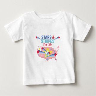Camiseta Para Bebê Estrelas & listras