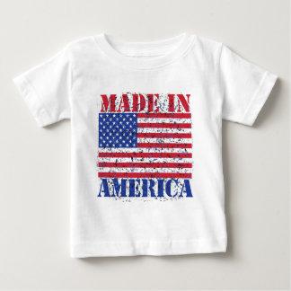 Camiseta Para Bebê Feito em América