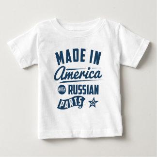 Camiseta Para Bebê Feito em América com peças do russo