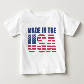 Camiseta Para Bebê Feito nos EUA