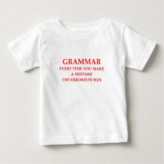 Camiseta Para Bebê gramática