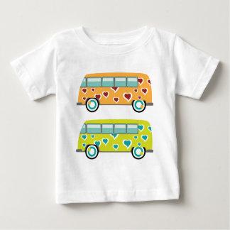 Camiseta Para Bebê Hippy Van