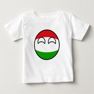 Camiseta Para Bebê Hungria Geeky de tensão engraçada Countryball
