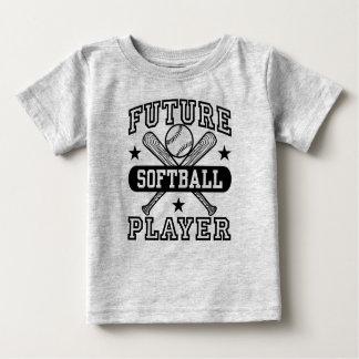 Camiseta Para Bebê Jogador de softball futuro