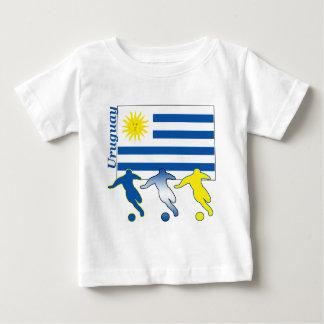 Camiseta Para Bebê Jogadores de futebol de Uruguai