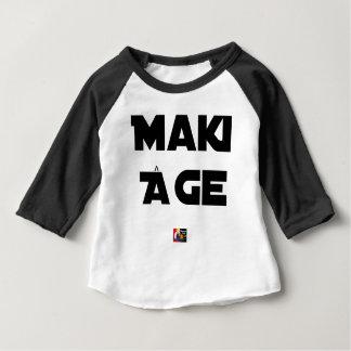 Camiseta Para Bebê MAKI IDADE - Jogos de palavras - François Cidade