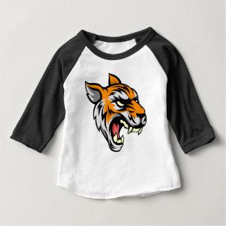 Camiseta Para Bebê Mascote animal média do tigre