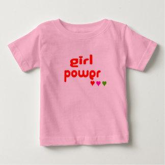 Camiseta Para Bebê Mini mim poder retro da menina