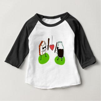 Camiseta Para Bebê Molho do sushi e de soja