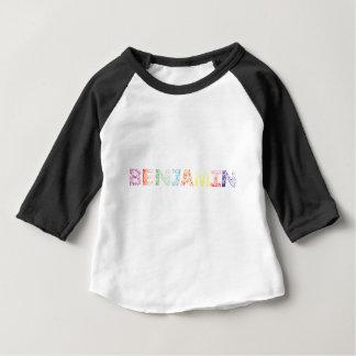 Camiseta Para Bebê Nome de letra de Benjamin