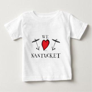 Camiseta Para Bebê nós amamos o nantucket