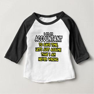 Camiseta Para Bebê O contador… supor que eu sou nunca errado